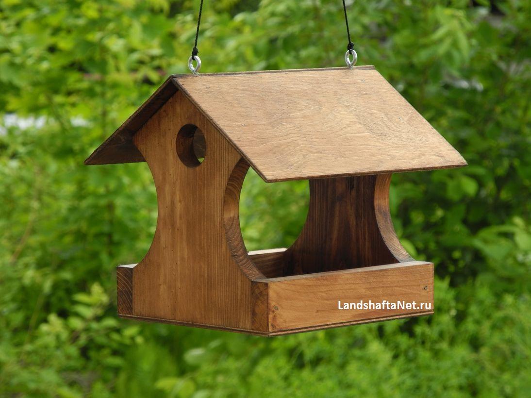 Кормушка из дерева своими руками для птиц