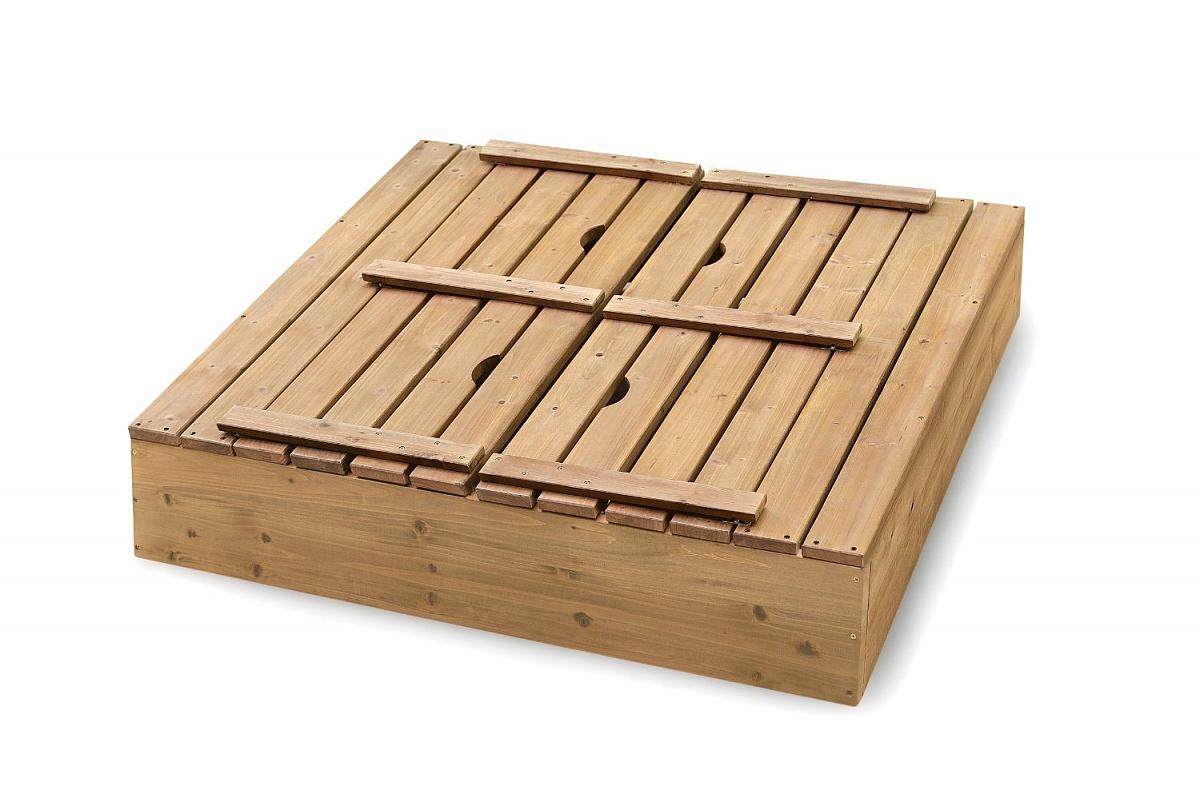 Песочница с крышкой-скамейкой схема