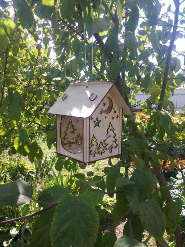 Кормушки для птиц в виде домика своими руками
